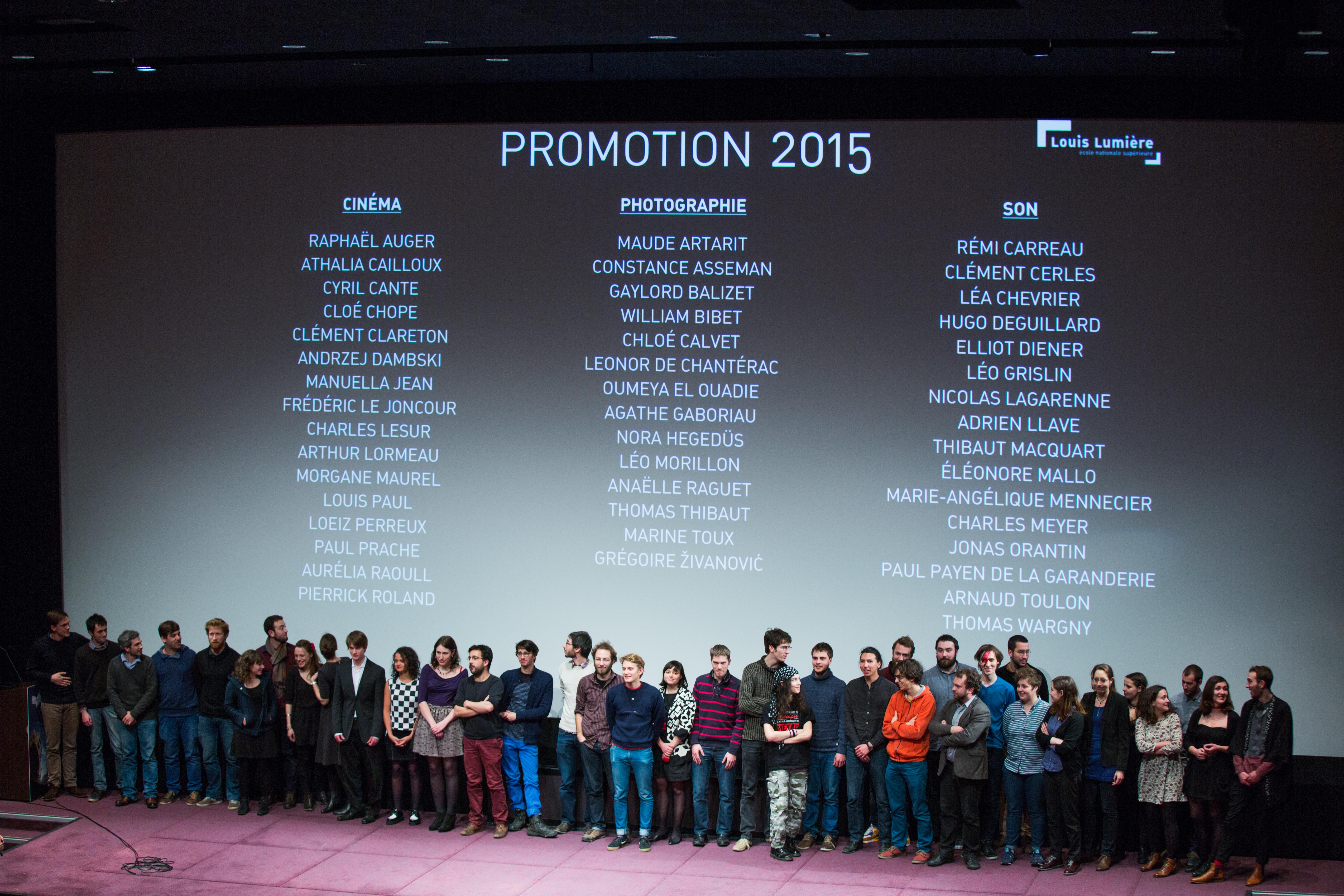 Soirée des diplômés 2016 - promotion 2015